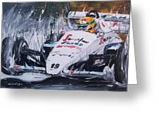 Ayrton Senna Toleman 1984 Greeting Card