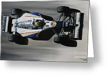 Ayrton Senna - Williams Renault Fw16 Greeting Card