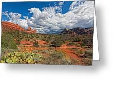 Az-sedona-schnebly Hill Rd-huckaby Trail Greeting Card