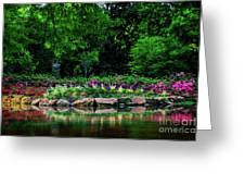 Azalea Pond Greeting Card