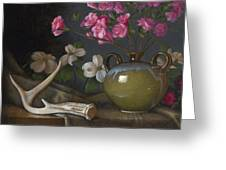 Azaleas And Dogwood Greeting Card by Timothy Jones
