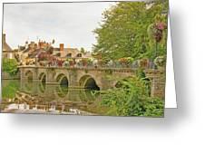 Azay Le Rideau Bridge, Boys Fishing Greeting Card