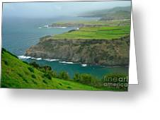 Azores Coastal Landscape Greeting Card
