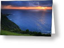 Azores Islands Sunset Greeting Card