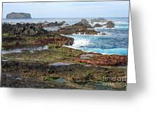 Azores Seascape Greeting Card