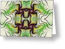 Aztec Art Design Greeting Card