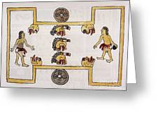 Aztec Ball Game Greeting Card