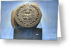 Aztec Calendar Stone Greeting Card