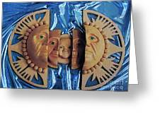 Aztec Generations Mask Greeting Card