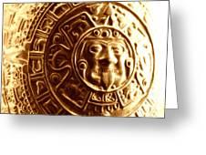 Aztec Gold Photograph Greeting Card