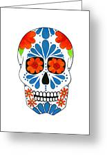 Aztec Inspired Sugarskull Greeting Card