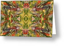 Aztec Kaleidoscope - Pattern 001 - Desert Greeting Card