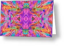 Aztec Kaleidoscope - Pattern 009 Greeting Card