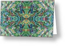 Aztec Kaleidoscope - Pattern 018 - Earth Greeting Card