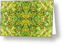 Aztec Kaleidoscope - Pattern 018 - Lemonlime Greeting Card