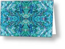 Aztec Kaleidoscope - Pattern 018 - Ocean Greeting Card