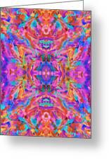 Aztec Kaleidoscope - Pattern 032 Greeting Card