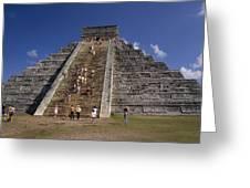 Aztec Pyramid Near Mexico City Greeting Card
