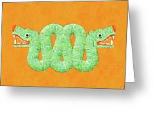 Aztec Serpent Greeting Card