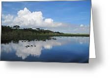 Azul Reflexion Greeting Card