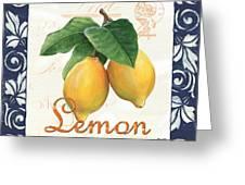 Azure Lemon 1 Greeting Card by Debbie DeWitt