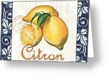 Azure Lemon 2 Greeting Card by Debbie DeWitt
