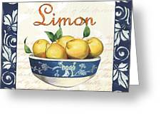 Azure Lemon 3 Greeting Card