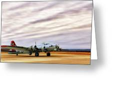 B-17 Aluminum Overcast - Bomber - Cantrell Field Greeting Card