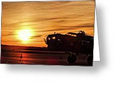 B 17 At Sunset Greeting Card