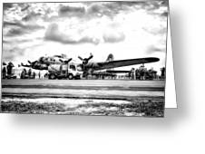 B-17 Bomber Fueling Up In Hdr Greeting Card
