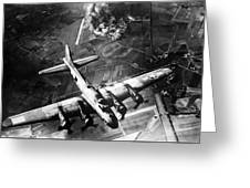 B-17 Bomber Over Germany  Greeting Card by War Is Hell Store