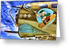 B-17 Paint  Greeting Card