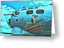 B-17 Aluminum Overcast Pin-up Greeting Card