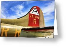 B-17 Tail Wwii Greeting Card
