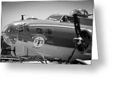 B-17 Taxiing For Departure Greeting Card