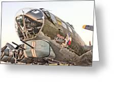 B-17 Texas Raiders Greeting Card