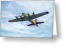 B-17g Flying Fortress In Flight  Greeting Card