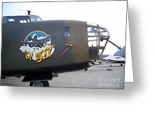 B-24 Nose Art Greeting Card