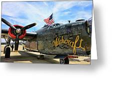 B-24j Witchcraft Wwii Greeting Card