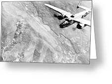 B-25 Bomber Over Germany Greeting Card
