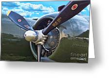 B-25 Engine Greeting Card