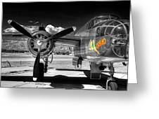 B-25 Mitchell Infrared Greeting Card