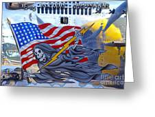 B-25 Pacific Prowler Nose Art Greeting Card by Larry Keahey