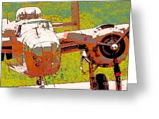 B-25 Red B Greeting Card