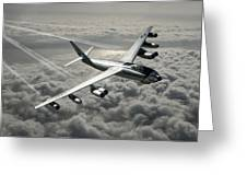 B-47e Stratojet With Contrails Greeting Card