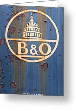 B And O Railroad Rail Car Signage Greeting Card