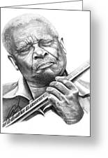 B B King Greeting Card