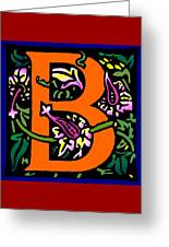 B In Orange Greeting Card