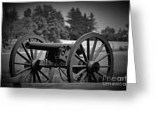 B W Canon Gettysburg Greeting Card