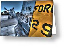 B17 And Her P51 Mustang Escort Sit Ready Greeting Card